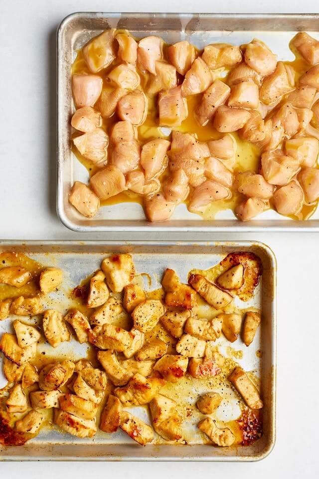 Medové-hořčičné kuřecí kousky
