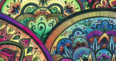 mandala kreslená malba