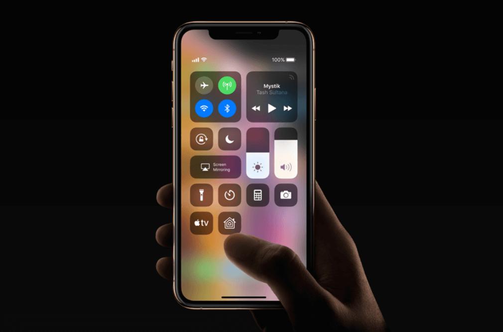 Iphone XR, XS a XS Max notifikační lišta