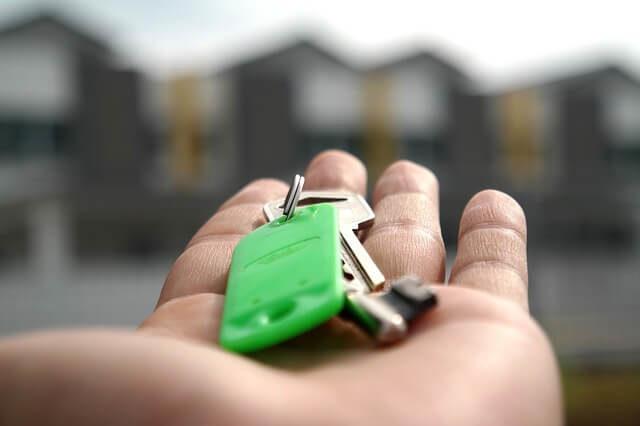 klíče od nové nemovitosti
