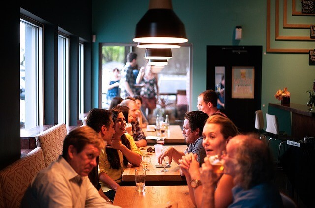 Anglická konverzace v restauraci