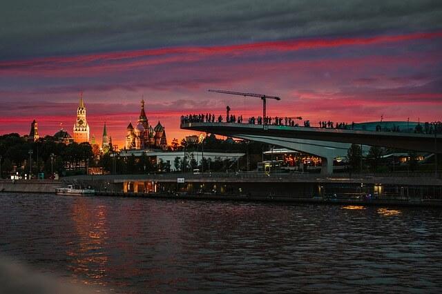 Pohled přes řeku Moskva
