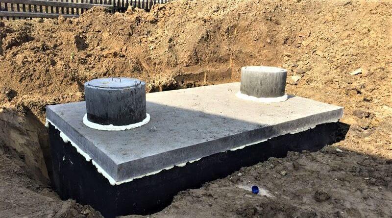Dvoukomorová betonová žumpa - septik