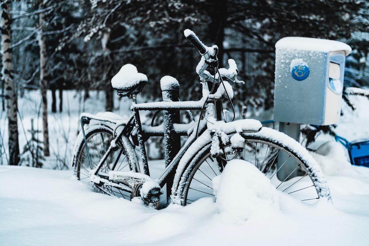 Jízdní kolo v zimě