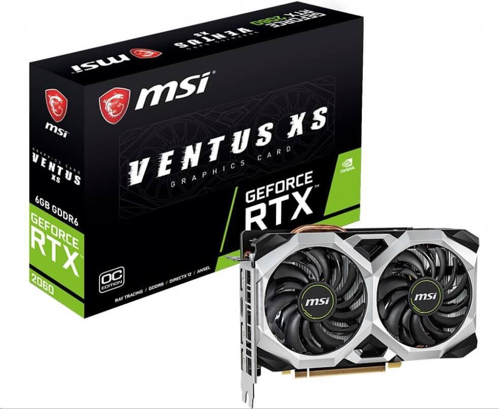 Grafická karta do 10000 Kč - MSI GeForce RTX 2060 Ventus XS 6G OC