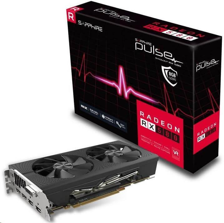 Grafická karta do 5000 Kč - Sapphire Radeon RX 580 Pulse 8GB DDR5