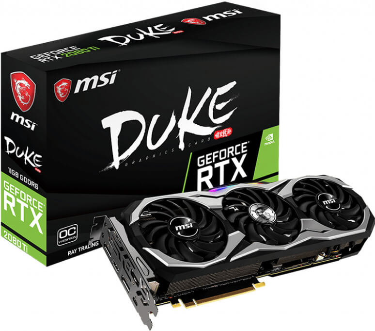 MSI GeForce RTX 2080 Ti DUKE 11G OCV1