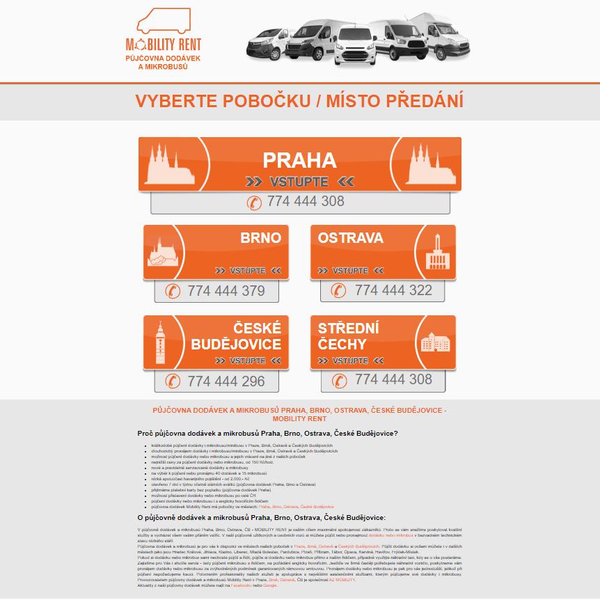 Půjčovna dodávek - Praha Brno Ostrava ČB MOBILITY RENT