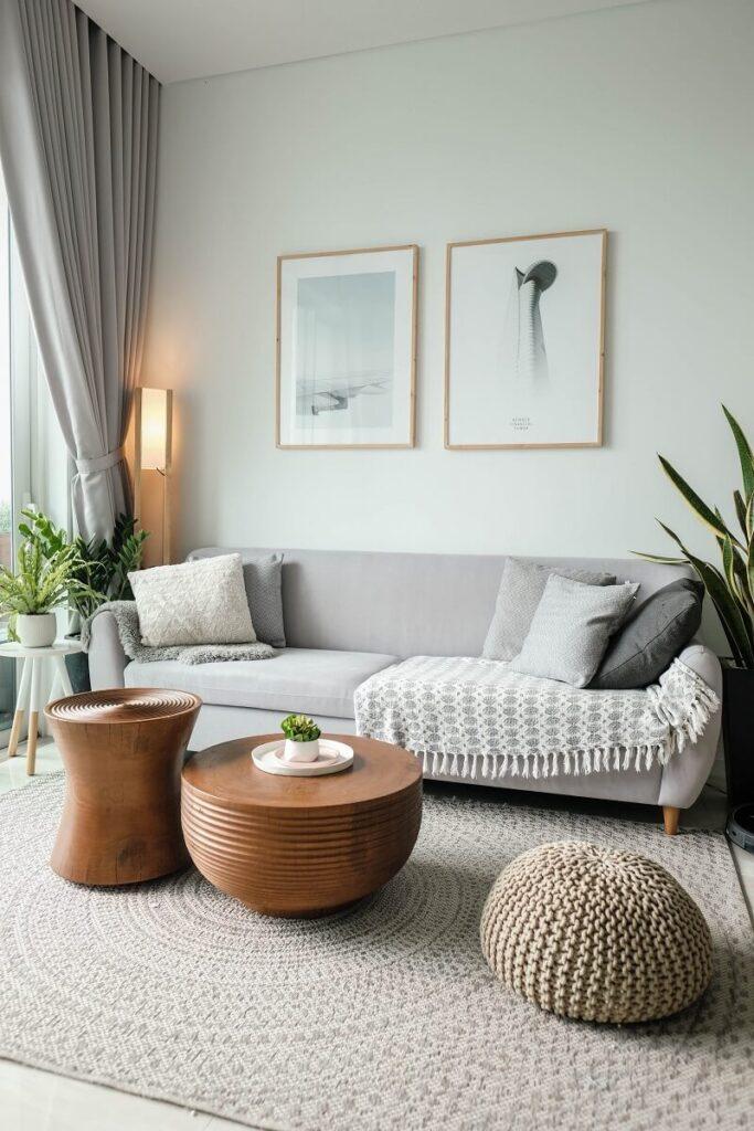 Skandinávský styl obývacího pokoje